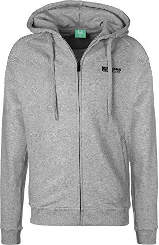 Montana Logo Sweat zippé à Capuche Grey/Black