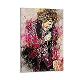 liutao Mick Jagger 1 póster decorativo de pintura en lienzo para pared, para sala de estar, dormitorio, 50 x 75 cm