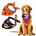 URATOT 3 Pieces Halloween Costumes Dog Bandanas Pumpkin Pet Cat Scarfs Bibs Accessories for Dog and Cat