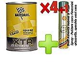 OLIO motore auto- Bardahl XTR 39.67 Racing c60 10W-60 -formulato per motori racing o di elevata potenza - Offerta 4 Litri + Shell Advance Helmet & Visor Spray - Pulitore casco - Finestrini auto - piastrelle, specchi e vetri casa