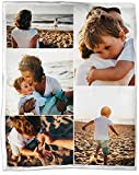 Custom Blanket Made in USA - Personalized Blanket with Photos Customized Throw Blankets Photo Blanket - Pet Memorial Blanket Friendship Souvenirs Wedding Creative Gifts (5 Photos Collage, 80'x60')