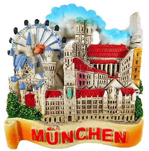 N / A Magnet Souvenir München 6 x 6,5 x 2 Kühlschrankmagnet Stadt Figur Deko E46