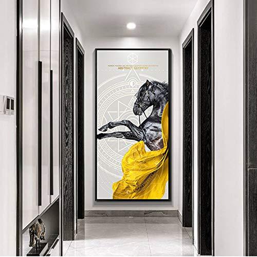 RELIABLI ART Horse Pictures Decoración moderna Animal Canvas Painting Wall Pictures para la sala de estar Carteles e impresiones A 40x60cm