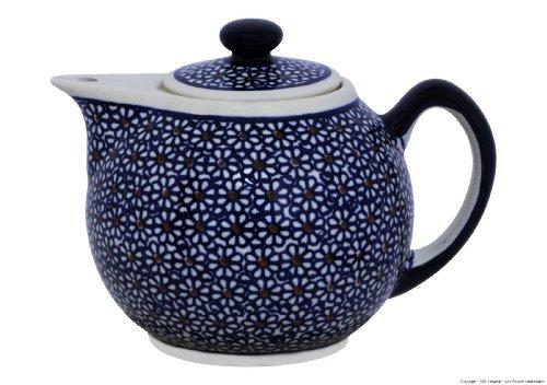 Original Bunzlauer - moderne Teekanne 1.0L- im Retro-Dekor 120