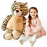 IKASA Large Tiger Stuffed Animal Plush Tiger Toy for Children (Brown, 30 inches)