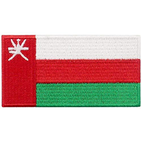 Oman Vlag patch geborduurd Applique Omani ijzer op naaien op nationaal embleem