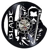 Zihan9 Reloj de Pared de Vinilo Vampire Hunter Bladed Warrior Element Vinyl Quartz Record Vintage Trend Clock Mute 12 Pulgadas