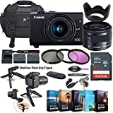 Canon EOS M200 Mirrorless Digital Camera with 15-45mm Lens (Black) + 5 Photo/Video Editing Software Package & Accessory Kit