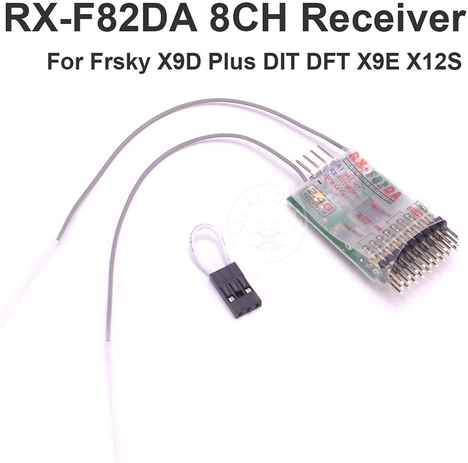 Laliva RXF82DA 8CH Receiver Compatible Frsky X9D Plus DIT DFT X9E X12S Transmitter for RC FPV Racing Drone