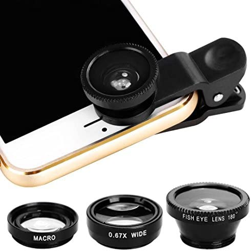Longay 3 in1 Universal Clip Fish Eye Wide Angle Macro Lens for iPhone for Samsung Smart Phone product image