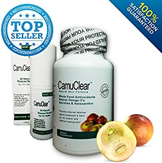 Best Rosacea Treatment, Camuclear® - Rosacea & Redness Treatment - Rosacea Skin Supplement + Rosacea Serum - 120 Capsules - 2 Month Supply - Cures Rosacea Flare Ups [100% Satisfaction Guarantee]