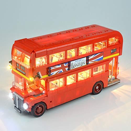 YOU339 LED Licht Set für Lego London Bus 10258, USB betriebenes LED Licht, Konstruktion Baustein Geändert Building Block Zubehörsatz (nur LED im Lieferumfang enthalten)