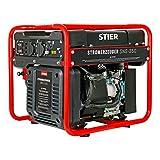 STIER Stromerzeuger SNS-350, Strom Generator, 10l Tankvolumen, 38 Kg, Stromerezuger leise mit 69...