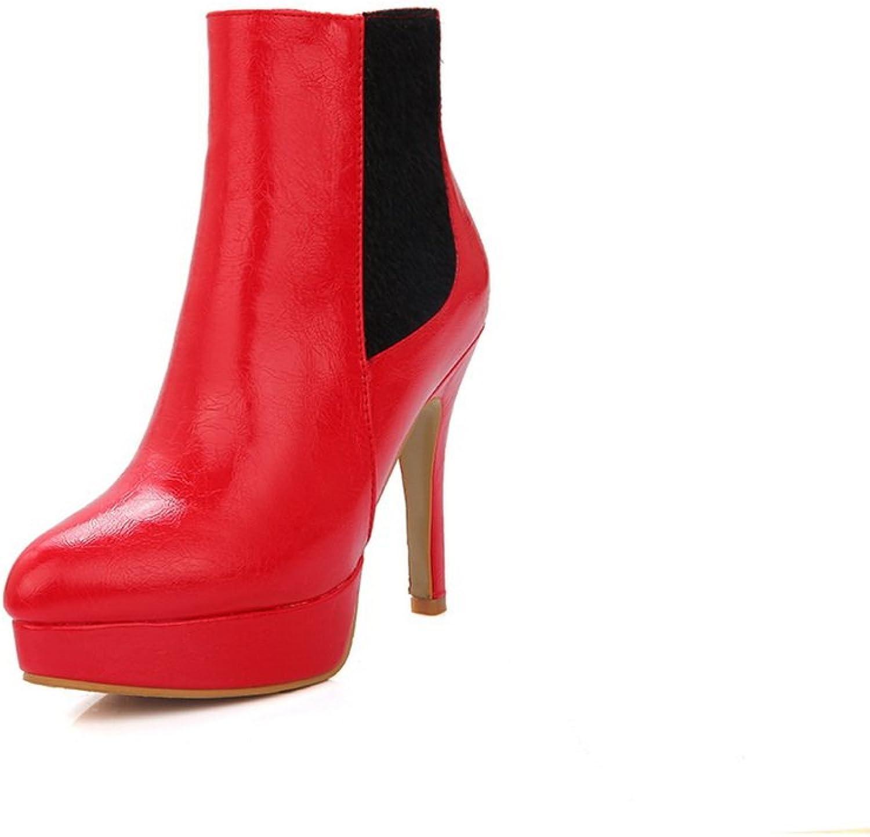 AdeeSu kvinnor modeklänning Round -Toe Slip Slip Slip -Resistent Comfort Microbiber stövlar SXC01686  utlopp på nätet