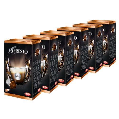 K-Fee Espresto Cappuccino, Espresso, Kaffee, Arabica, 6er Pack, 6 x 16 Kapseln, 48 Portionen
