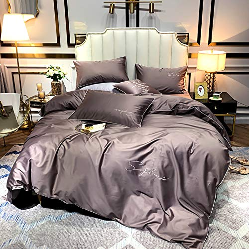 yaonuli eenvoudige eenkleurige vierdelige bedtrampoline-producten van katoen met een breedte van 1,5 tot 1,8 meter [dekbedovertrek 200 x 230]