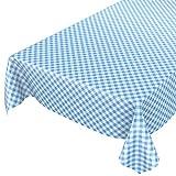 ANRO Wachstuchtischdecke Wachstuch Wachstischdecke Tischdecke Wachstuchdecke Karo Kariert Blau 100 x 140cm