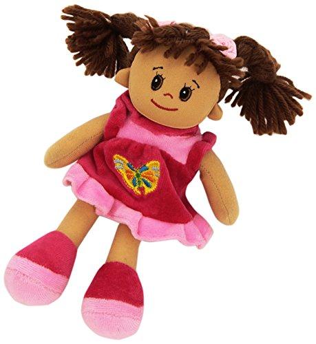Heunec 473478 - Poupetta kleine Lucy mit braunem Haar, 20 cm