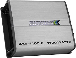 Autotek AYA-1100.2 Alloy Series Two Channel Car Audio Amplifier (Silver) – Class A/B Amp, 2 Channel, 1100 Watt, Built in B... photo