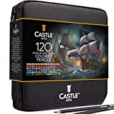 Castle Art Supplies - Set di 120 matite colorate con cerniera, perfetto per tutti gli artisti