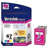 VersaInk-Nano 67 CS Tri-Color Ink Cartridge - Compatible with HP 67 Tri-Color