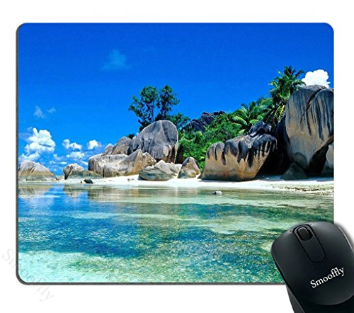 Beaches France Seychelles Mousepad,Custom Rectangular Mouse Pad,Smooffly Gaming Mouse Pad