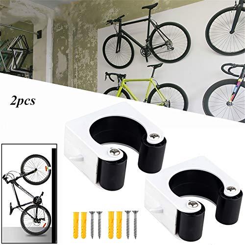 Integrity 2 Stück Fahrradparkschnalle Fahrradwandhalter Mit Schnalle Design Platzsparend Für Home & Bike Store Rennradmodelle schwarz