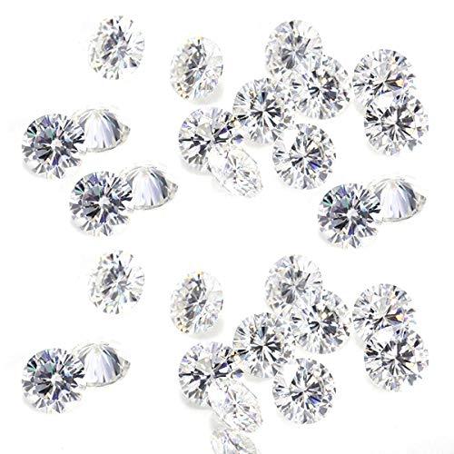 Diamantes sueltos naturales Redondos 10 unidades Lote I1-I3 Claridad G-H Color blanco 100% Real