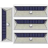 DOOK Luce Solare LED Esterno,【2021 Ultimi Modelli 126LED-1300 Lumen】 Lampada Solare Esterno con Sensore di Movimento 2000 mAh Luci Esterno Energia Solare Impermeabile per Giardino,Parete