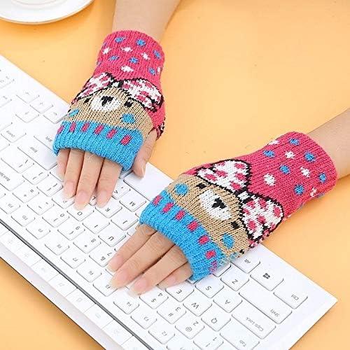 1Pair Spring Women Warmer Women Gloves Winter Fingerless Knit Mittens Button Gloves 2017 New - (Color: 6, Gloves Size: One Size)