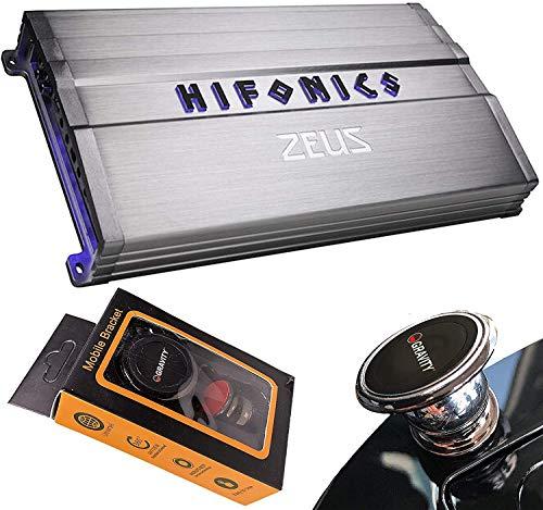 Hifonics ZG-3200.1D 3200 Watts Zeus Gamma Mono Subwoofer Car Audio Amplifier with Gravity Magnet Phone Holder