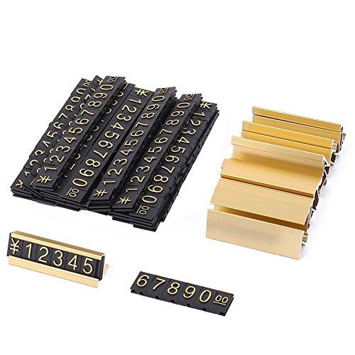 bobotron 19 grupos de números arábigos de metal dorado