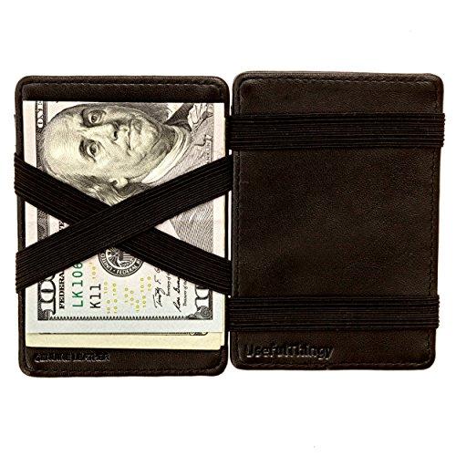 Magic Wallet - Magical Flip, for Men Women Kids - Genuine Leather Black