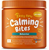 Keep Calm & Wag On – Zesty Paws Calming Bites are chewable dog treats with natural and organic ingredients that promote relief and composure for dogs with stress, aggression, and anxiety troubles. Features Suntheanine – Each chew treat contains Sunth...