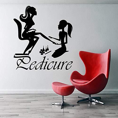 Adesivo Murale Salone di bellezza Nail Pedicure Manicure Adesivo da parete in vinile Decorazioni per la casa Soggiorno Decorazione Art Poster42 * 45cm