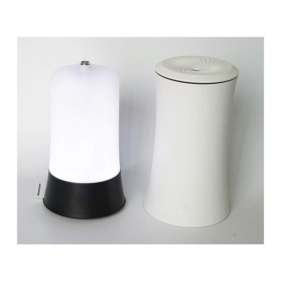 電気満足させる利点ウッドグレイン超音波アロマクールミスト300mlエッセンシャルオイルディフューザー、アロマ加湿器付き、水なしオートシャットオフ、7色LEDライトホームオフィス用ベビーホワイト