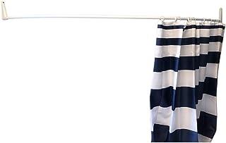 Erica 85 x 95 x 85 cm 100/% antiruggine Rivestimento in PVC Bianco Asta per Tenda da Doccia a Forma di U Montaggio a Parete Senza la necessit/à di Fissare al soffitto Colore Bianco