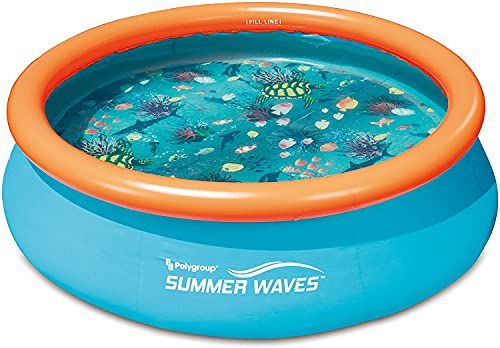 well2wellness® 3D Quick-Up Pool Aufstellbecken Swing Ø3,05m x 76 cm inklusive 2 x 3D Brillen