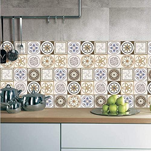 aipipl 25 Unids/Set Pegatinas de Azulejos de Cocina Arte de la Pared Transferencias de Azulejos Pegatinas de Baño Decoración Impermeable Etiqueta de Azulejos a Prueba de Aceite Decoración de la C