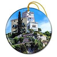 イタリアアマルフィ海岸クリフハウスヴィラクリスマスオーナメントセラミックシート旅行お土産ギフト