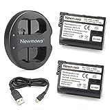 Newmowa EN-EL15 Batería de Repuesto (2-Pack) y Kit de Cargador Doble para Micro USB portátil para...