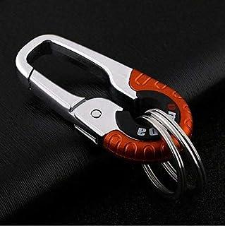 Smart Key Ring Alloy Metal Car Keyring Holder Organiser Chain Heavy Duty Gift (Red)