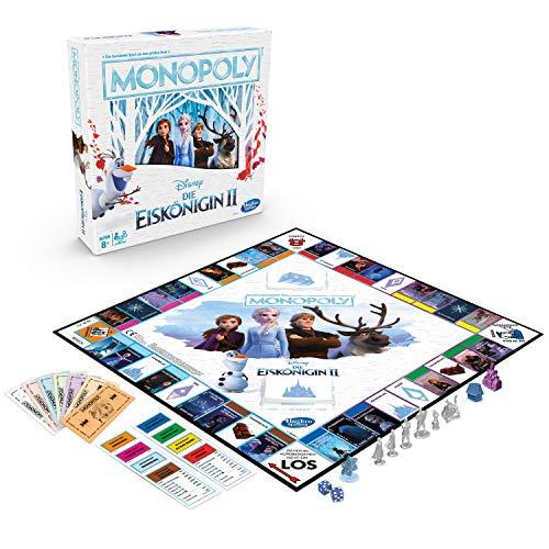 Hasbro Disney Die Eiskönigin 2 Monopoly, Brettspiel für Kinder ab 8 Jahren