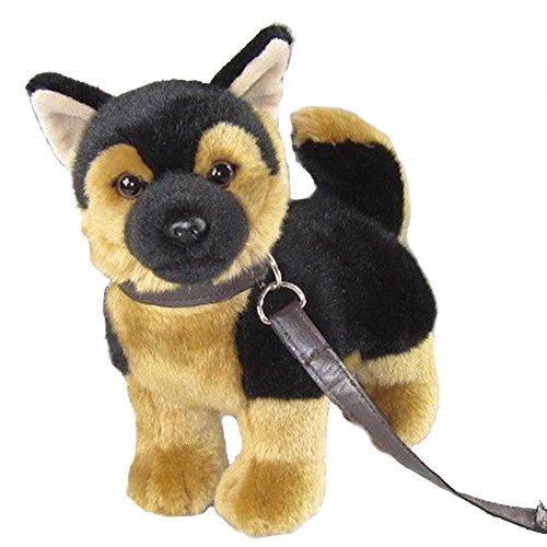 Pamer-Toys Animaux en peluche, animaux en peluche - Berger avec laisse - Noir/marron