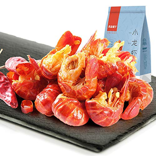 Chinese food Snacks Spicy Xiaolongxia良品铺子香辣小龙虾76g/袋 小吃华人食品中国特产麻小麻辣小龙虾尾熟食