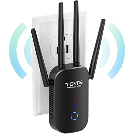 TGVi's WiFi Extender 1200Mbps,WiFi Booster 2.4 & 5GHz Dual Band,WiFi Extender with Ethernet Port, WiFi Extenders Signal Booster for Home, 360 Degree Wireless Network Signal Coverage Easy Set Up