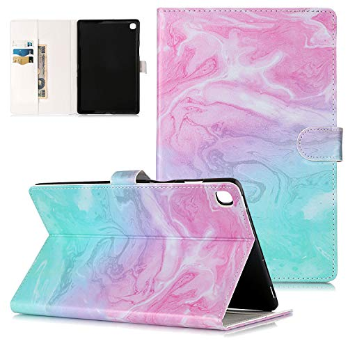 Slim Case for Samsung Galaxy Tab S5e 2019 Release (Model: T720/T725), UGOcase Smart PU Leather Folio Folding Stand Wallet Cover with Auto Wake/Sleep for Samsung Galaxy Tab S5e, Pink Marble