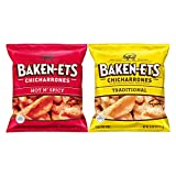 Baken-Ets Pork Skins, Chicharrones, Variety Pack 0.625oz Bags (24 Pack) 24ct Variety Pack 15 Ounce
