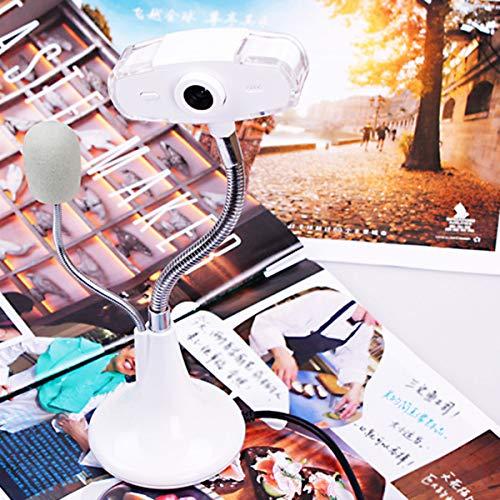 DERCLIVE 480P USB PC Webcam Laptop Computer Treiberfreie Webkamera mit Mikrofon für Videoanrufe