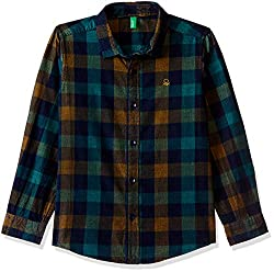 United Colors of Benetton Boys  Checkered Regular Fit Shirt